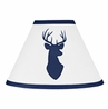 Navy and White Woodland Deer Lamp Shade by Sweet Jojo Designs