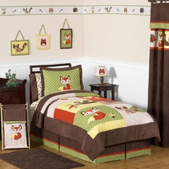 Woodland Forest Animals Children's Bedding - 3 pc Full / Queen Set by Sweet Jojo Designs
