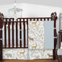 Woodland Toile Baby Bedding - 9pc Crib Set by Sweet Jojo Designs