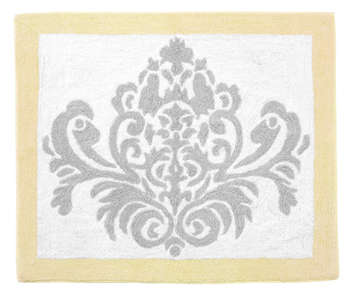 Yellow and Gray Avery Accent Floor Rug by Sweet Jojo Designs