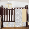 Yellow and Gray Avery Baby Bedding - 4pc Crib Set by Sweet Jojo Designs