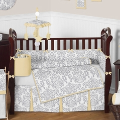 Yellow and Gray Avery Baby Bedding - 9pc Crib Set by Sweet Jojo Designs