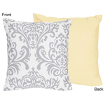 Yellow and Gray Avery Decorative Accent Throw Pillow by Sweet Jojo Designs