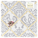 JoJo Designs Yellow and Gray Avery Fabric Memory/Memo Pho...