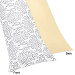 Yellow and Gray Avery Full Length Double Zippered Body Pillow Case Cover by Sweet Jojo Designs