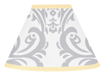Yellow and Gray Avery Lamp Shade by Sweet Jojo Designs