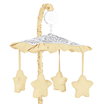 Yellow and Gray Avery Musical Baby Crib Mobile by Sweet Jojo Designs
