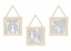 Yellow and Gray Avery Wall Hanging Accessories by Sweet Jojo Designs