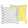 Yellow and Gray Chevron Zig Zag Decorative Accent Throw Pillow by Sweet Jojo Designs