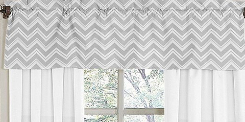 JoJo Designs Window Valance for Yellow and Gray Chevron Z...