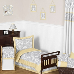 Yellow and Gray Avery Toddler Bedding - 5pc Set by Sweet Jojo Designs