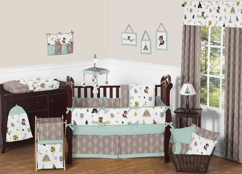 Outdoor Adventure Nature Baby Bedding 9pc Crib Set By