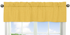 Yellow Hatch Print Window Valance for Jungle Time Collection by Sweet Jojo Designs