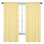 Yellow Window Treatment Panels by Sweet Jojo Designs - Set of 2