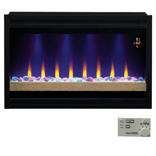 classic contemporary built in electric fireplace