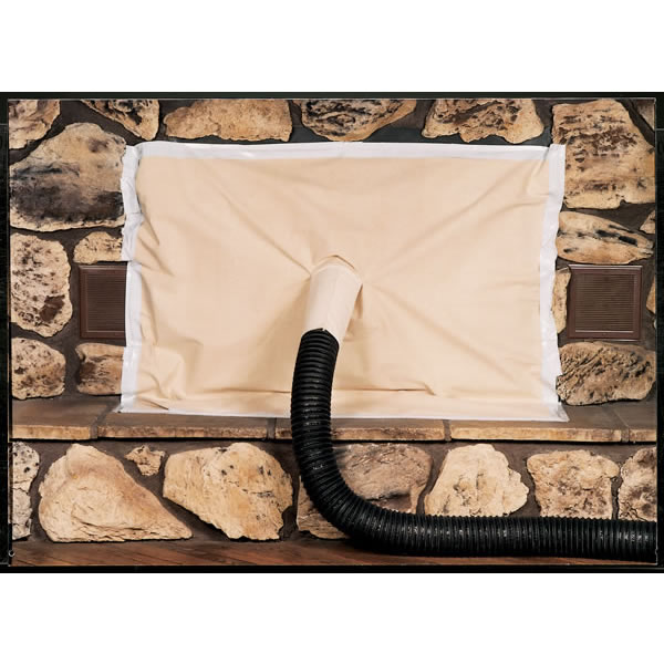 Copperfield Canvas Fireplace Cover With Hose Access
