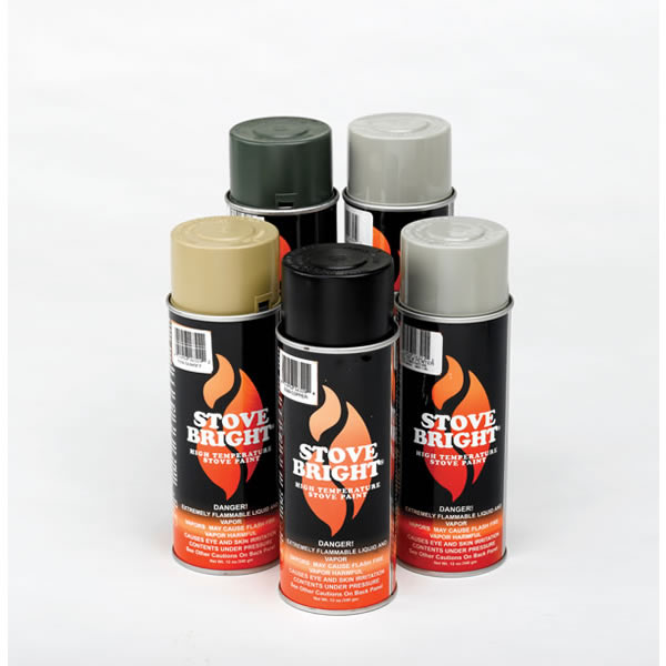 Stove Bright Pewter Gas Fireplace Surround Paint 43407