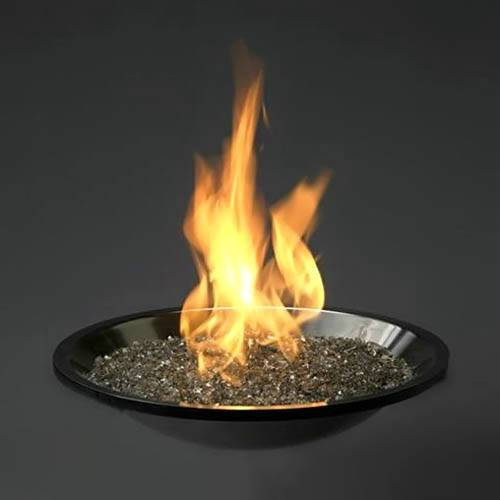 Crystal Fire Stainless Steel Firepit Burner With Diamond