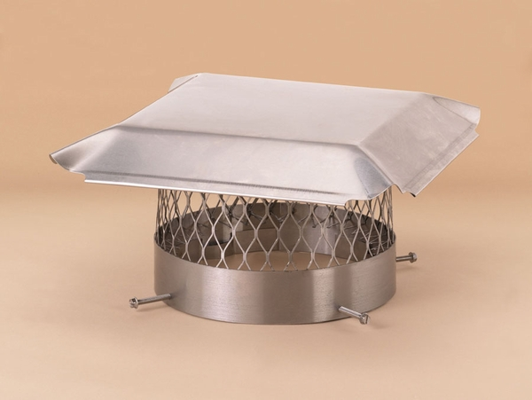 Draft King 14 in. Stainless Steel Round Bolt-On Single Flue Chimney Cover