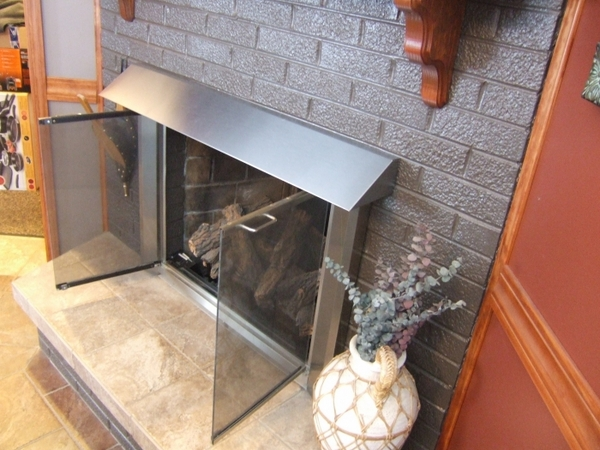 Elite Glass Enclosure Fireplace Hood With Surface Mount
