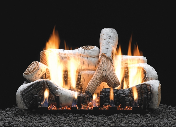 empire 30 birch ceramic fiber ventless propane gas log