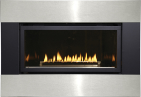 Empire Matte Black And Stainless Steel Fireplace Surround