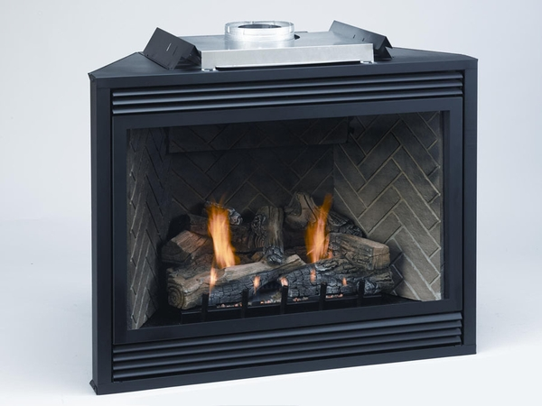 Empire Tahoe Premium Direct Vent Propane RF Fireplace with Remote Control  and Blower - 36