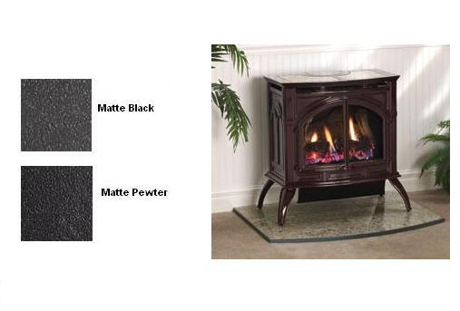 Empire VFP30CA30 Heritage Vent-Free Cast Iron Gas Stove with Matte Finish -  Natural Gas - VFD-30-CC30FN - VFP30CA30 Heritage Vent-Free Cast Iron Gas Stove With Matte Finish