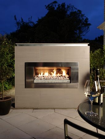 Escea Ef5000 Outdoor Gas Fireplace With Ferro Stainless
