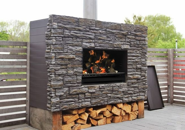 wood burning fireplaces patio fireplaces escea ew5000 outdoor wood