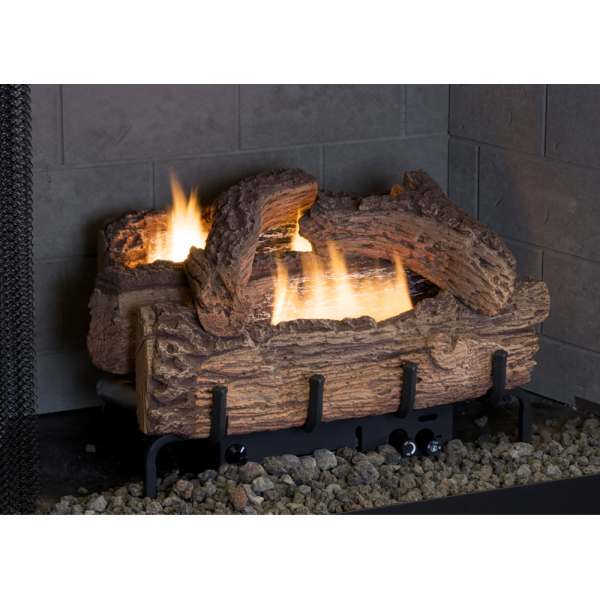 everwarm 24 palmetto oak ventless propane gas log set