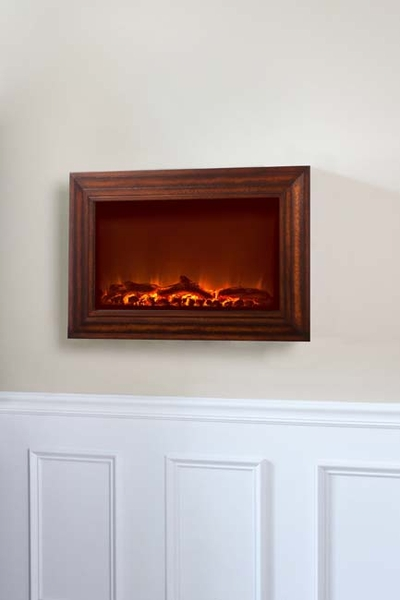 fire sense wall mounted electric fireplace with heater and