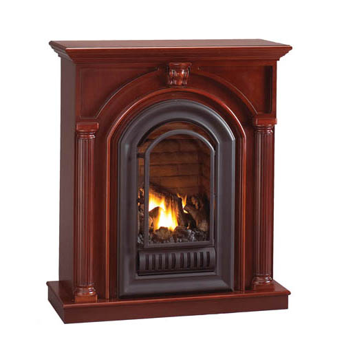 florence mid height wall mantel with arched ventless