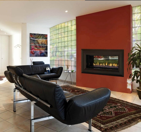 "FMI Paris Lights 43"" Linear Vent-Free Fireplace - Propane"