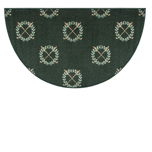 Goods Of The Woods Golf Club Half Round Hearth Rug 27