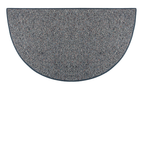 Goods Of The Woods Grey Ember Half Round Wool Hearth Rug