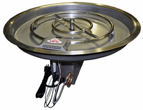 hearth products controls 42 5 inch stainless steel bowl