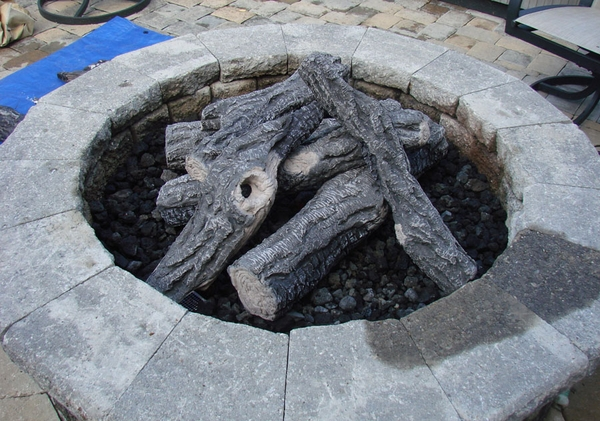 Hearth Products Controls 6 Piece Woodland Ceramic Fiber Outdoor Log Set -  For Fire Pits and Rings Larger ... - Products Controls 6 Piece Woodland Ceramic Fiber Outdoor Log Set