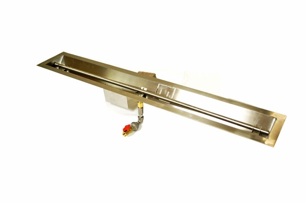 Hpc 48 Quot Stainless Steel Linear Trough Fire Pit Insert