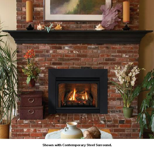 Empire Innsbrook Large Direct Vent Gas Fireplace Insert with Millivolt  Controls - Natural Gas - DV35IN33LN - Innsbrook Large Direct Vent Gas Fireplace Insert With Millivolt