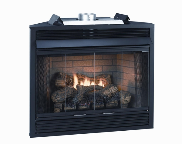 empire keystone deluxe b vent louvered gas fireplace 36 quot