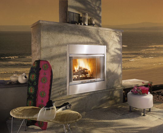 Majestic 36 Inch Al Fresco Outdoor Wood Burning Fireplace