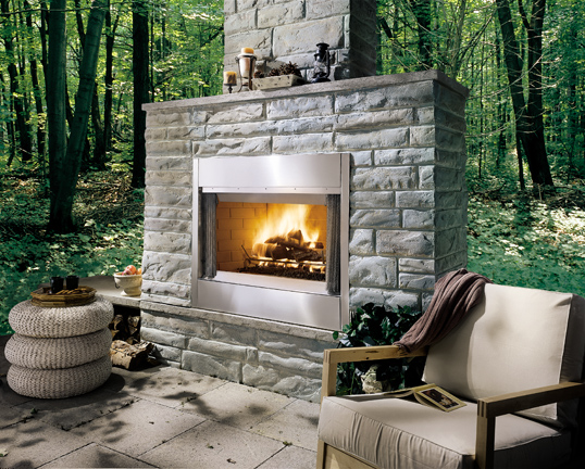 Majestic 42 Inch Al Fresco Outdoor Wood Burning Fireplace