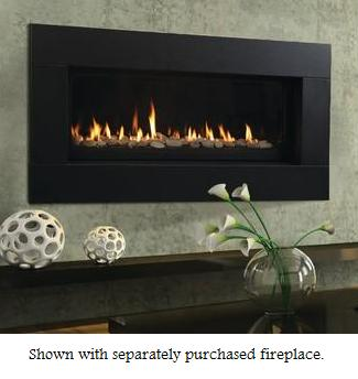 Majestic Contemporary Textured Black Fireplace Face For