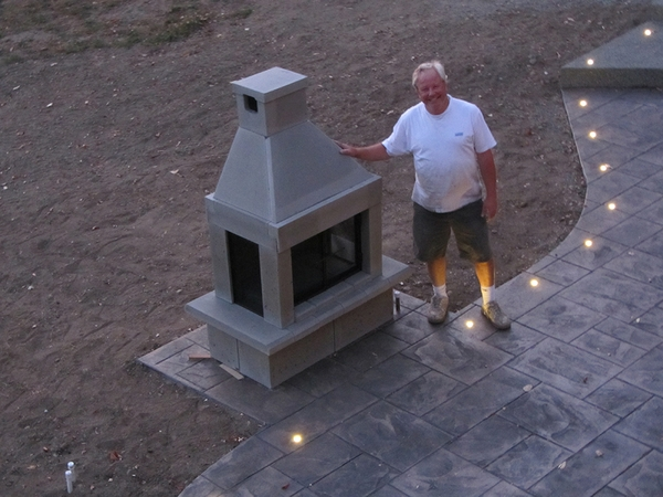 Mirage Stone See Through Outdoor Gas Fireplace With Gas