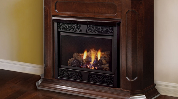 chesapeake vent free gas fireplace with wood mantel cabi 24 inch - Vent Free Natural Gas Fireplace Review Top Gas Fireplace Reviews