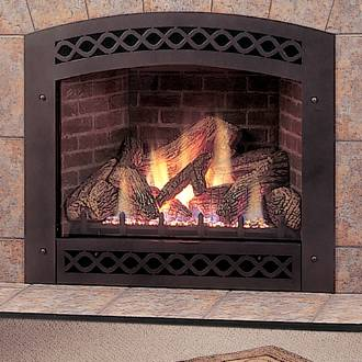 Monessen Lexington Black Arched Front For Lx32 Direct Vent