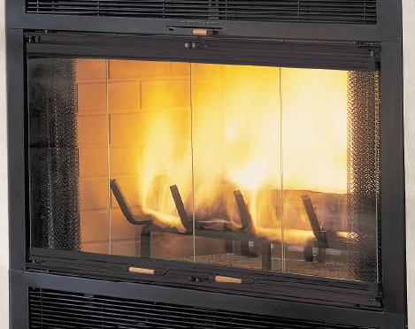 cool free standing wood burning fireplace - Glass Fireplace Doors