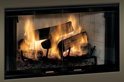 Monessen Standard Bi Fold Glass Fireplace Doors With Black