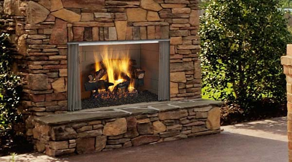 Monessen Villawood Outdoor Wood Burning Fireplace - 42 Inch - Villawood Outdoor Wood Burning Fireplace - 42 Inch